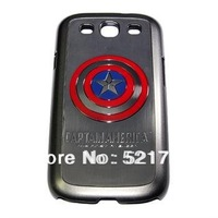 Trendy 3d Captain America Case Cover for Samsung Galaxy S3 S III I9300 ( Free shipping)