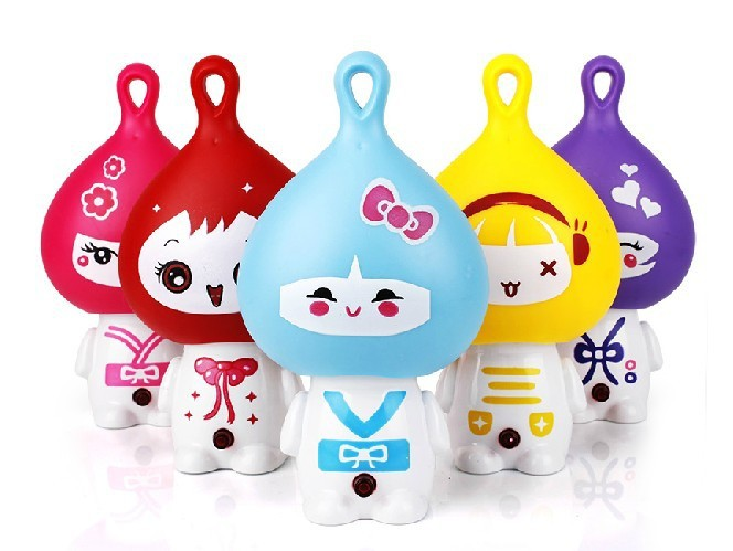 hot summer selling Cartoon onion rechargeable mini fan portable fan students holding small fan cool feeling drop shipping(China (Mainland))