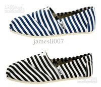 HOT 2013 new Women's Classic casual canvas shoes EVA stripes glitters canvas Flat shoes