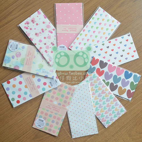 Denim dog 58 love circle dot envelope 5 stationery small fresh(China (Mainland))