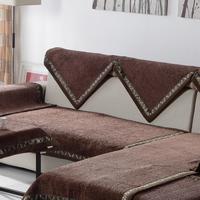 Coffee  sofa cushion cover/minnie sofa towel/high quality chenille soft breathable sofa cushion free shiping