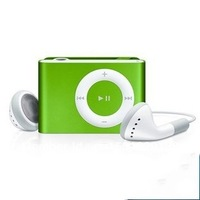 good quality  MINI Clip MP3 Player +4GB Micro TF card +earphone+usb cable+crytal box free shipping