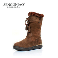 Bird nubuck cowhide tassel boots winter boots thermal 9832 snow boots