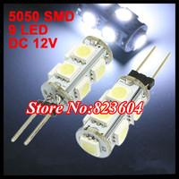 G4 5050 SMD 9 LED White RV Marine Boat Home Car Spot Light Bulb Lamp x200