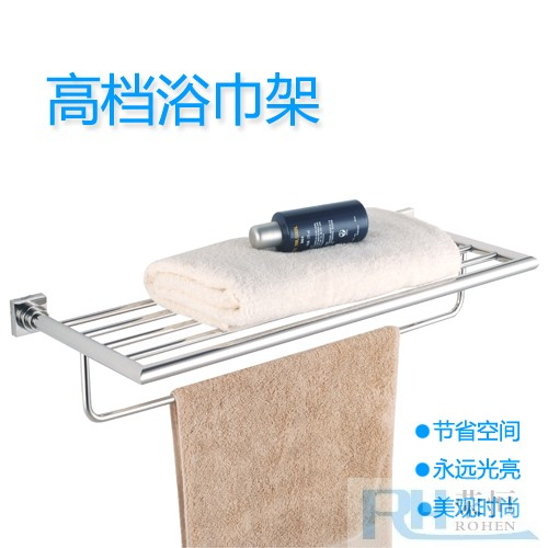 Steel 304 casting base towel rack multi-layer towel rack towel hanging rod bathroom bath towel(China (Mainland))