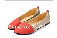 Free Shipping 4 color 5-9Size fashion shoes 2013 new Summer toe pointed women flat shoes lady Comfort low-heel Csual shoes