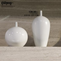 2014 new top fasion modern white & porcelain m home decoration vases bencher vase brief fashion decoration home crafts t30