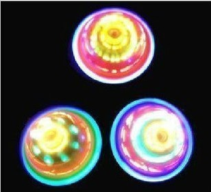 Wipe flash spinning top spinning top colorful electronic light laciness spinning top toy