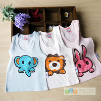 Hot-selling child summer 100% thin cotton vest boy girl clothing baby vest underwear free air mail