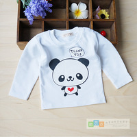 2013 spring and autumn basic long-sleeve T-shirt 100% basic cotton white shirt top baby children free air mail