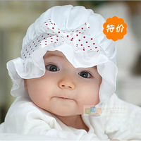 Spring and autumn bow silk baby hat tire cap princess bucket hats child cap free air mail