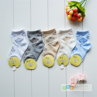 Summer cotton baby child boy girl mesh socks cartoon car thin socks free air mail