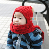 New Child hat scarf set male winter hat child cap with scarf free air mail shipping