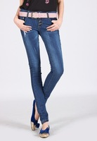 Free Shipping Hot sell sexy Cheap Jeans Women / Ladies Leggings Fashion 2014 Cultivate one's morality Show thin leg pants
