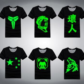 Luminous lovers short-sleeve summer male luminous short-sleeve T-shirt short-sleeve o-neck luminous lovers