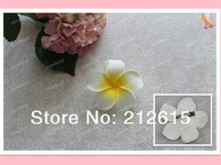 30 pcs x 3.15'' foam frangipani Hawaii plumeria flower hair clip free shipping