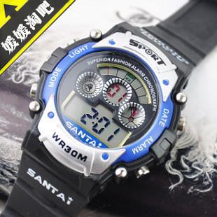 Child little boy electronic watch cool fashion waterproof sports electronic watch type electronic watch 1(China (Mainland))