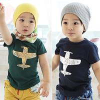 2013 children's clothing child male child baby short-sleeve T-shirt 100% 8d-2 cotton
