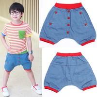 2013 child trousers male baby child summer denim pants capris 5b-7