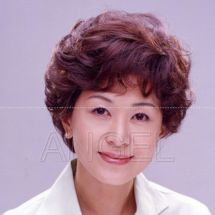 Chokecherry wig quinquagenarian wifing real hair women's wifing stubbiness hair set