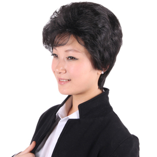 Women's wifing quinquagenarian wifing wig female wig short hair wig female short hair