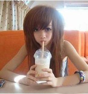Wig female wig fluffy wig female wig girls wig women's long straight hair wig