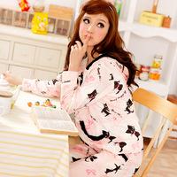 2014 sleep wear for women pijama femininos comprido brand cute soft velvet nightwear pajamas sets princess clothes home suit