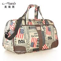 Fashion travel bag vintage handbag flag fancy large capacity travel bag long shoulder strap