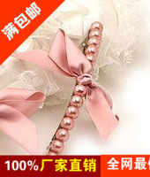 6146 2013 new arrival accessories pearl bow hairpin hair accessory  free shipping