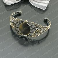 Wholesale 60mm Antique Bronze Brushed Copper Bangles with 25*18mm Oval Setting Diy Bracelets Findings 1 Piece(JM3021)