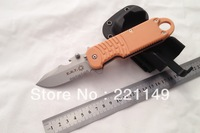 High Quality! FOX E.R.T. Outdoor Folding Blade Knife,7Cr17Mov ABS Handle anodize black side lock Rescue Knife.Free shipping!