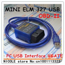 Mini Auto Diagnostic Tool Interface USB ELM327 v1.5 OBDII OBD2 OBD 2 OBD-II Interface USB ELM327  ELM327
