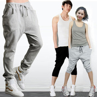 New Men Women Korean Style Casual Athletic Hip Hop Dance Sporty Harem Baggy Tapered Sport Sweat Pants Slacks Trousers Sweatpant