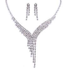 Urged sets chain bride wedding accessories necklace long bridal necklace marriage accessories 018