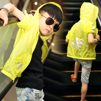 Children's clothing child summer male 2013 child sun protection clothing thin outerwear yd326