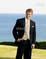 TOP Custom any size and color Groom Tuxedos/Jacket/Tie/Vest and Pants