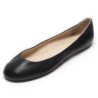 2014 spring Hot!!!Genuine leather single flat low women's sheepskin shoes free shipping