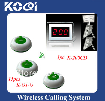 Nurse call light systems 15pcs nurse call button and 1pc smart LED monitor easy installation, easy coding,effective