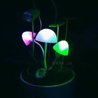 freeshipping Ceramic Edition USB photosensitive Avatar mushroom lamp/ Led  photoswitchable induction mushroom colorful lights