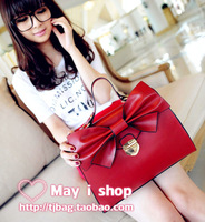 Medium butterfly fashion bow lock bag ladies elegant women's handbag 2way handbag