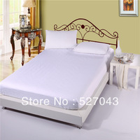 Hot Sale 2013 NEW Cotton satin drill pure colour (Queen/King size)  Fitted sheet/ mattress cover sheet ,MDHT,Free Shipping