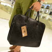 Fashion totes bag men genuine leather 2013 messenger bag 3 colors for choice