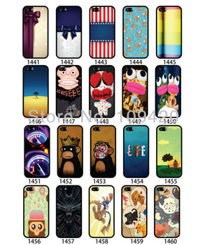 100pcs/lot free DHL Customer Design Color Print Hard back mobile/cell phone case for iphone 4S 5