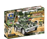 Kazi military Army Seriesczech armored vehicles toys model for children gift kids Building Block enlighten train set DIY yz1095