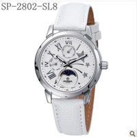 Free shipping Casima superd series women fashion girls watch SP-2802-SL1/SL5/SL6/SL8,waterproof ,calendar,week,moom phase