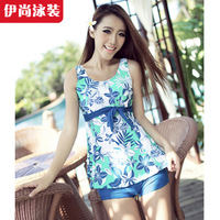 Hot spring swimwear female plus size tripe split swimsuit poems of chuanwei 3020 tide
