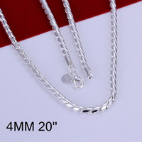 Free Shipping 925 Silver fashion jewelry Necklace pendants Chains, 925 silver necklace Twisted Necklace nquz xdbq