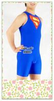 Moli's tights tights tights Lycra Superman series blue handmade