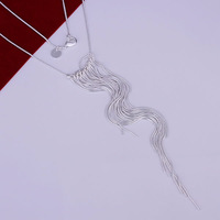 Free Shipping 925 Silver fashion jewelry Necklace pendants Chains, 925 silver necklace Wicker Necklace sgbo fnej