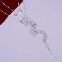 Free Shipping 925 Silver fashion jewelry Necklace pendants Chains, 925 silver necklace Wicker Necklace sgbo fnej